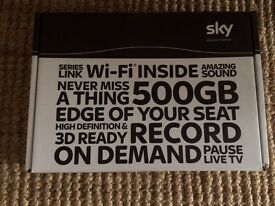 Sky+ HD Box 500Gb with remote.