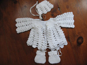 Preemie Handmade Sweater, Booties and Bonnet