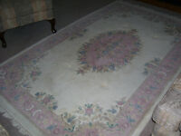 Real Wool  'Aubusson' rug Floral thick hand-tufted