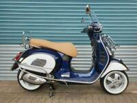VESPA GTS 300 ABS HPE 2020 BLUE MSC CLASSIC SPECIAL EDITION CHROME ACCESSORIES