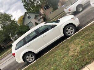 White 2013 DODGE JOURNEY for SALE!!! MAINTAINED, NEAT + SAFETIED