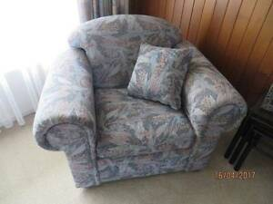 RETRO EUCALYPTUS LEAVE PRINT ARMCHAIR WITH MATCHING CUSHION Wynn Vale Tea Tree Gully Area Preview