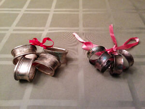 Brass and Silver-Plated Napkin Ring Sets