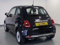 2017 Fiat 500 1.2 Lounge 3dr Petrol black Manual