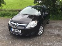 2011 Vauxhall Zafira 1.7 cdti eco flex Design.one former keeper from new .full service history