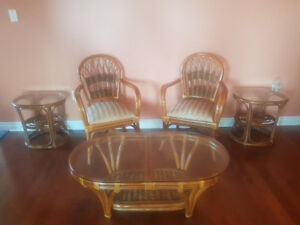 Elegant Wicker Coffee Table Set!!!