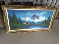 Oil painting in mint condition. 56 inch wide x 32 inch high