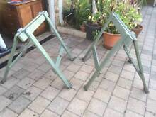 Set of Old Timber Folding Trestle Table Bases Beckenham Gosnells Area Preview