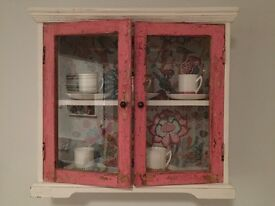 Vintage shabby chic display cabinet.