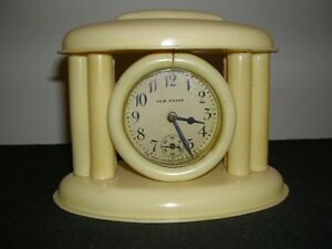 French Ivory 'New Haven' Shelf Clock