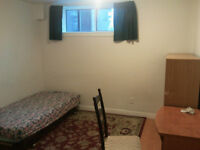 New basement room for rent,Finch/Don mill,Seneca College(MALE).(