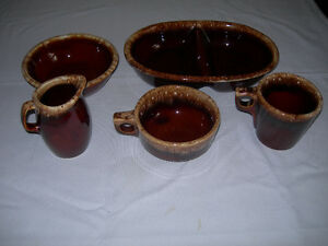 "Vintage Hull ""Brown Drip"" Ovenware Pottery - 5 pieces Kawartha Lakes Peterborough Area image 6"