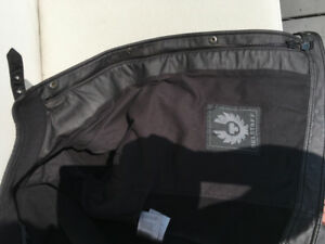 Belstaff: Incredible Black Lined Treated Cotton Moto Jacket