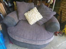 Grey Full Swival Chair