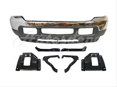 01-04 FORD EXCURSION FRONT BUMPER CHROME VALANCE MOUNT PLATE SUPPORT BRACKET 9PC