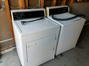 Kenmore laundry washer and dryer.