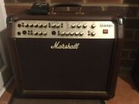 Marshall AS100D Amp with Marshall foot switch. Great Condition