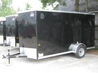 "6 x 12 + 18"" VNOSE ENCLOSED UTILITY TRAILER /REAR DOORS STK 1593"
