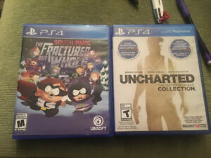 PS4 Games Uncharted Collection & South Park Fractured But Whole