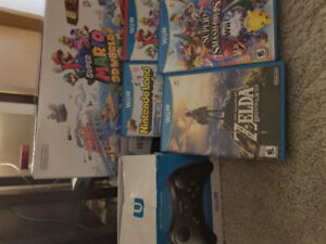 Nintendo Wii u with greatest hit games and pro controller