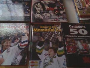 Lot de 12 livres de collection sur l histoire du hockey 45$