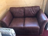 2 seater leather sofs