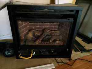 Valor propane fireplace with mantle