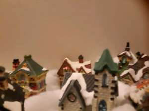 9 Pc Christmas light up Houses/Church and More