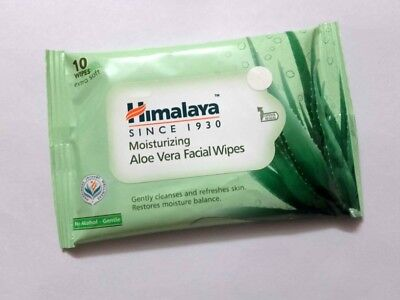 Himalaya Herbals Moisturizing Aloe Vera Facial Wipe cleanse,refreshes 10 wipes (Aloe Vera Herbal)