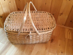 Hand made picnic basket