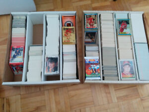 mint cond late 80's early 90's hockey card sets