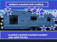 tabbert or hobby caravan with bathroom wanted cash waiting £4000