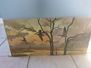 Vintage lithograph by Guy Coheleach Heading South PanchosPorch