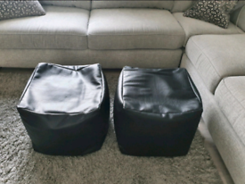 Very large faux leather bean bags