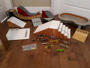 Finger boards and skate park items