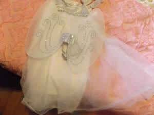 angel dress wings and head piec