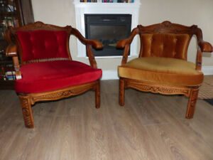 Pair of Victoria occasional chairs