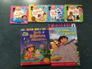 6 Dora The Explorer Books, $2 each book