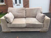 Second hand scs mink sofa suite