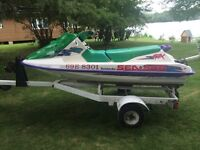 **MINT** 1995 Seadoo GTX with Trailer and Cover