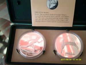 2 SILVER COIN CALGARY OLYMPIC SET