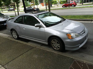 2002 Honda Civic SI - VELOZ Coupe SILVER *original owner* lowKMs