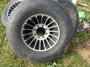 Tires and rims,,set of four,eight bolt