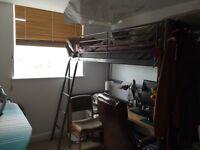 IKEA SVARTA single loft bed frame