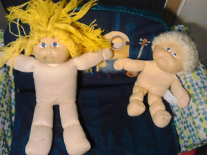 2 Cabbage Patch Dolls Vintage 1978 says on tag