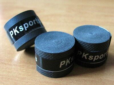 Griffband 3St. PKSPORT Schwarz Griffbänder Overgrip Tennisschläger Badminton Neu