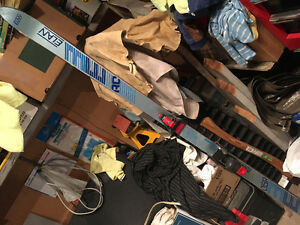 Complete set of skis and boots with poles