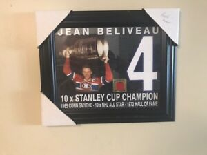 Montreal Canadiens framed collectors item Art