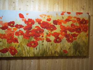 Extra large picture of poppy field