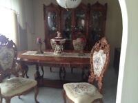 Louis XIV Dining Table and Buffet